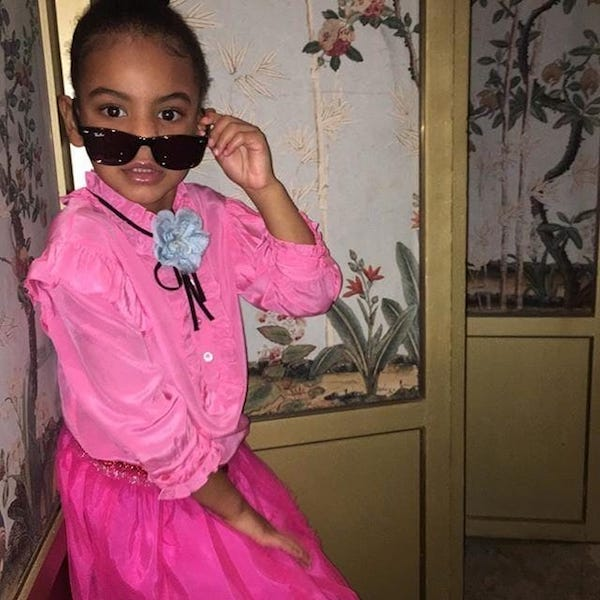 Blue Ivy Pink Gucci Outfit