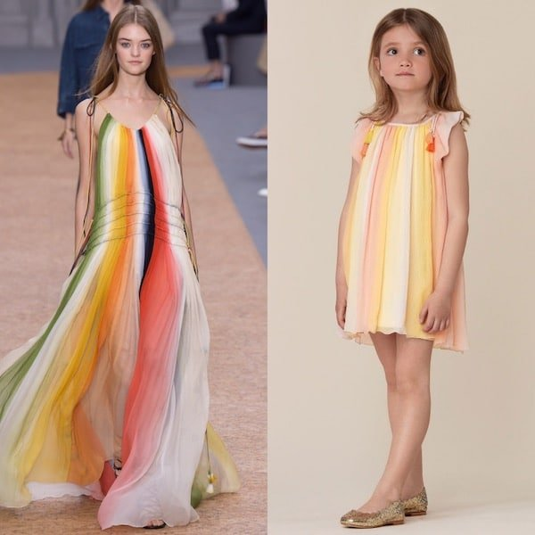 CHLOE-Girls-Pink-Yellow-Mini-Me-Striped-Silk-Dress