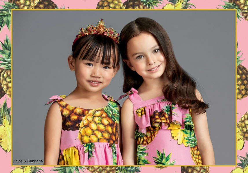 Dolce Gabbana Girls Pineapple Look Spring Summer 2017