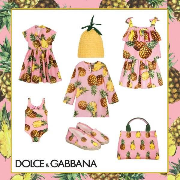 Dolce & Gabbana Girls Pineapple Trend Spring Summer 2017
