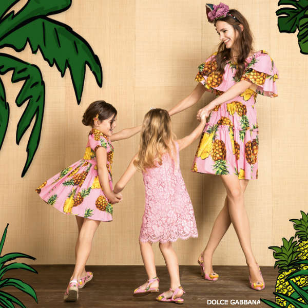 Dolce Gabbana Mommy Me Pineapple Spring Summer 2017 Collection