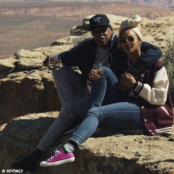 Beyonce Jay Z Celebrate Anniversary at Grand Canyon