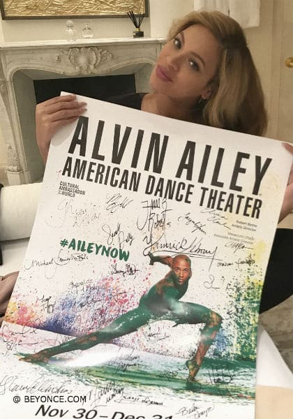 Beyonce Makes a Surprise Visit to Alvin Ailey Dance Theater