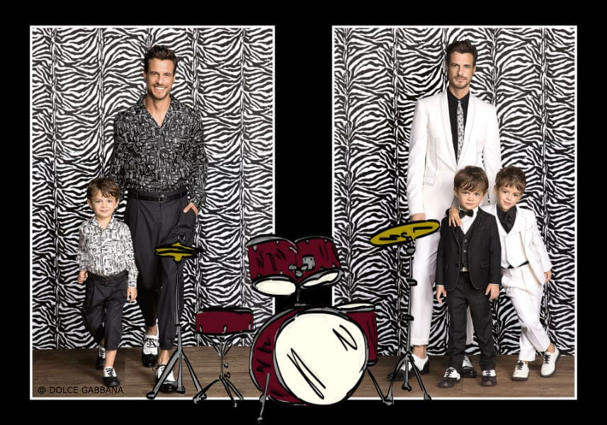 Dolce Gabbana Boys SS17 Mini Me Music Look