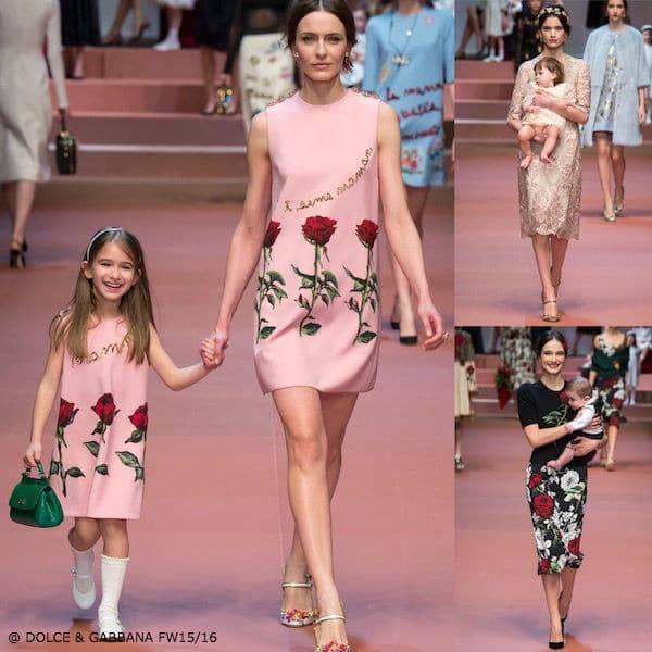 Dolce Gabbana Mamma & Me Fall Winter 2015 Collection