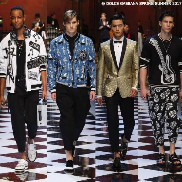 Dolce & Gabbana Mens Spring Summer 2017 Music Runway Show