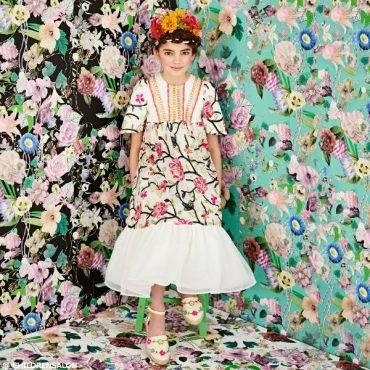SHOP GRACI Girls Ivory Embroidered Long Dress - Girls Flower Fashion 2017