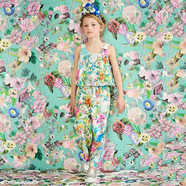 SHOP LOREDANA Girls Colorful Coastal Print Jumpsuit