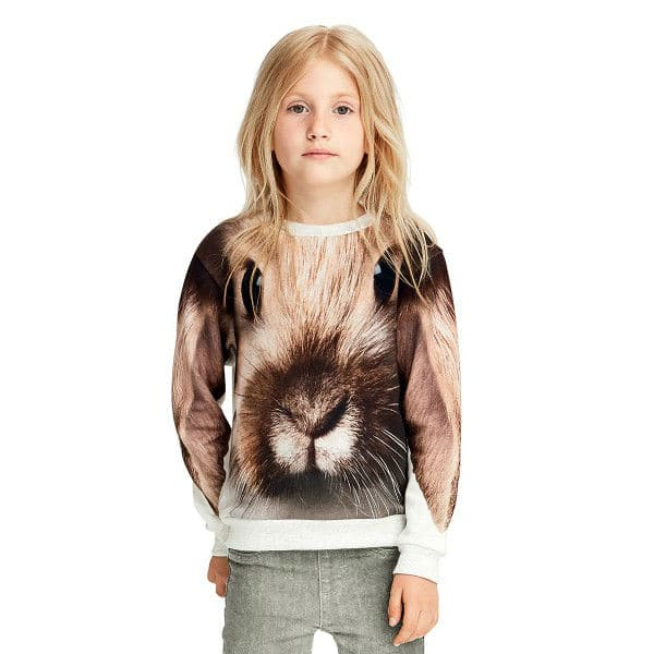 MOLO Girls Brown Bunny Magda Printed Shirt