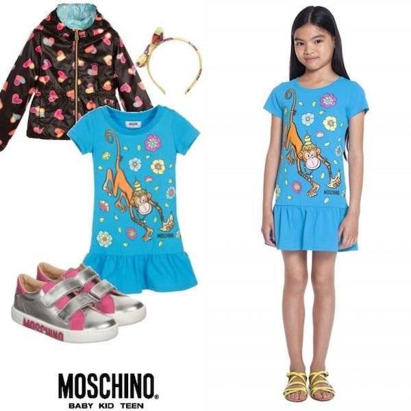 Moschino Kids Mini Me 70s Vibe Monkey Trend