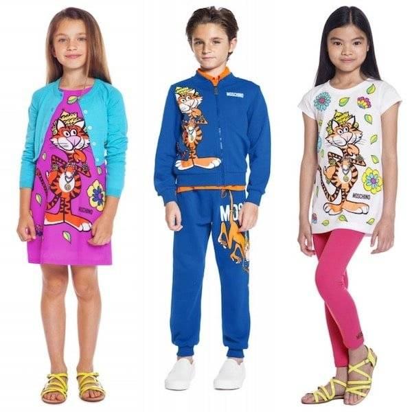 Moschino Kids Mini Me 70s Vibe Tiger Trend