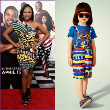 Naturi Naughton Stella McCartney Kids Brush Stroke Stripe Mini Me Look