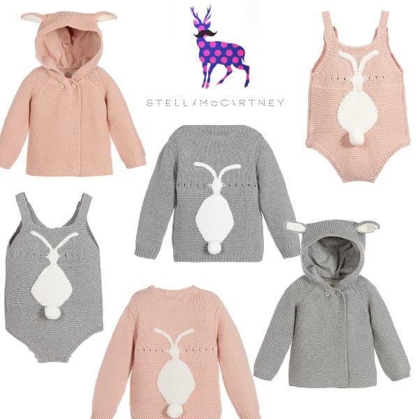 Stella McCartney Kids Baby Bunny Cashmere Knit Look Spring 2017