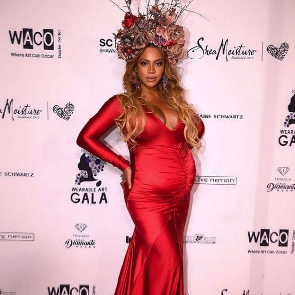 Beyonce Red Carpet Wearable Art Dress