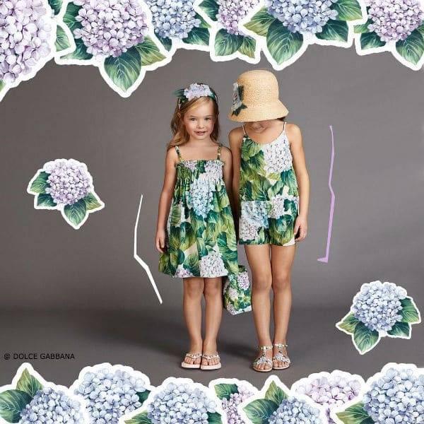 DOLCE GABBANA GIRLS Ortensia Trend SS17