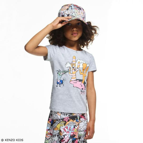 KENZO Girls Colorful Cartoon Cactus Outlook