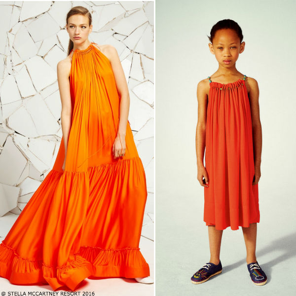 Stella McCartney Kids Girls Mini Me Coral Hope Dress