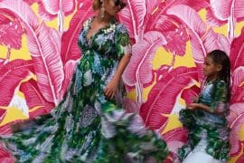 Beyonce Blue Ivy Dolce Gabbana Matching Ortensia Dresses Mothers Day 2017