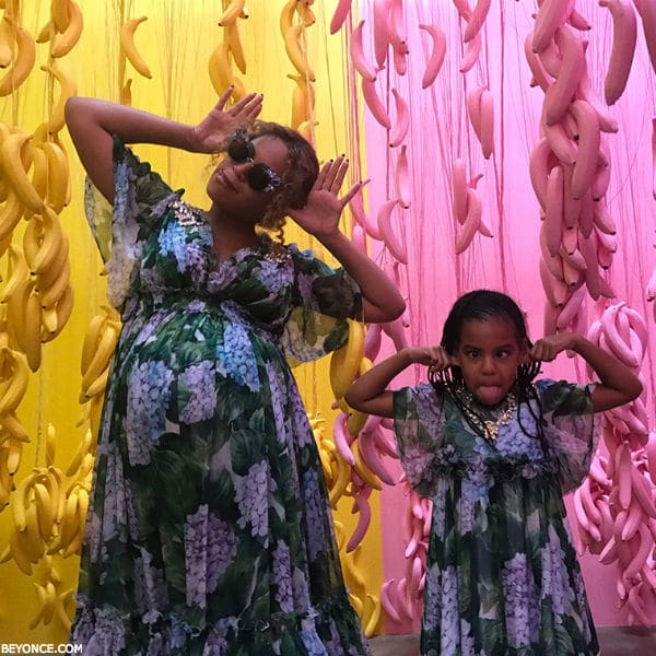 Beyonce Blue Ivy Dolce Gabbana Ortensia Dresses Mothers Day 2017