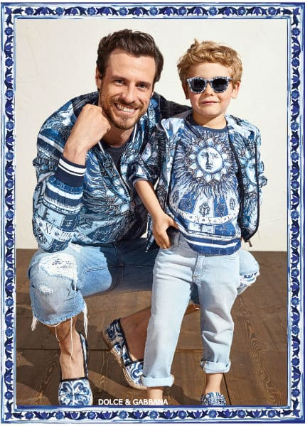 Dolce Gabbana Daddy Me Winter 2018 Majolica Collection