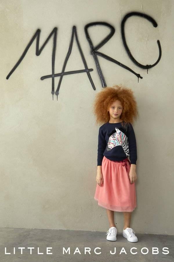Little Marc Jacobs Zebra Sweatshirt and Pink Tulle Skirt FW17