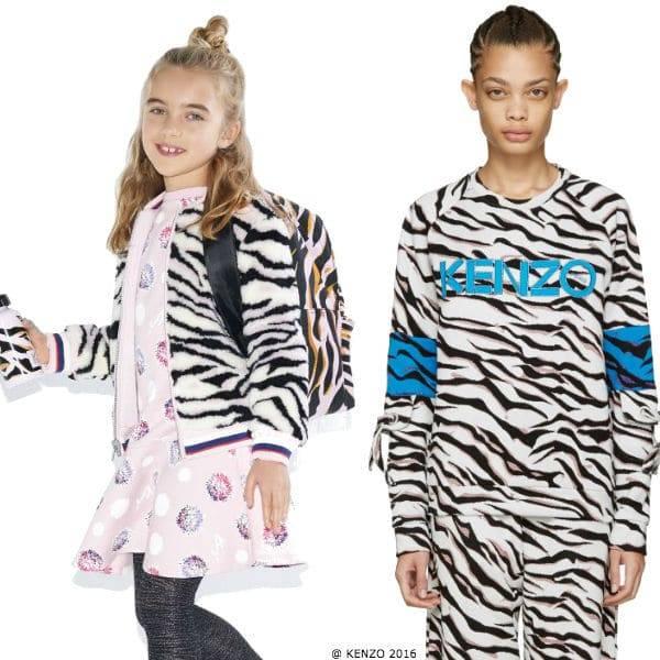 Kenzo Kids Leopard Print Reversible Bomber Jacket Kenzo Women 2016