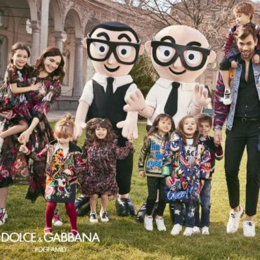 dolce gabbana children family fall winter 2017-2018 campaign