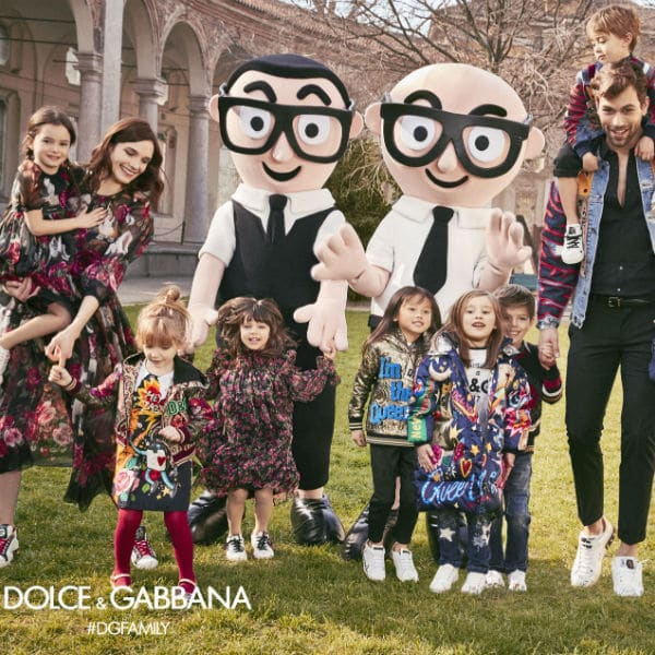 dolce gabbana children family fall winter 2017-2018 campaign