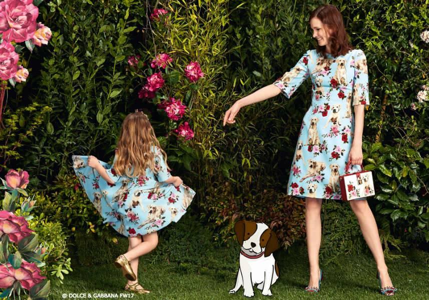 Dolce & Gabbana Girls Mini Me Mimmo Dog - Fall 2017