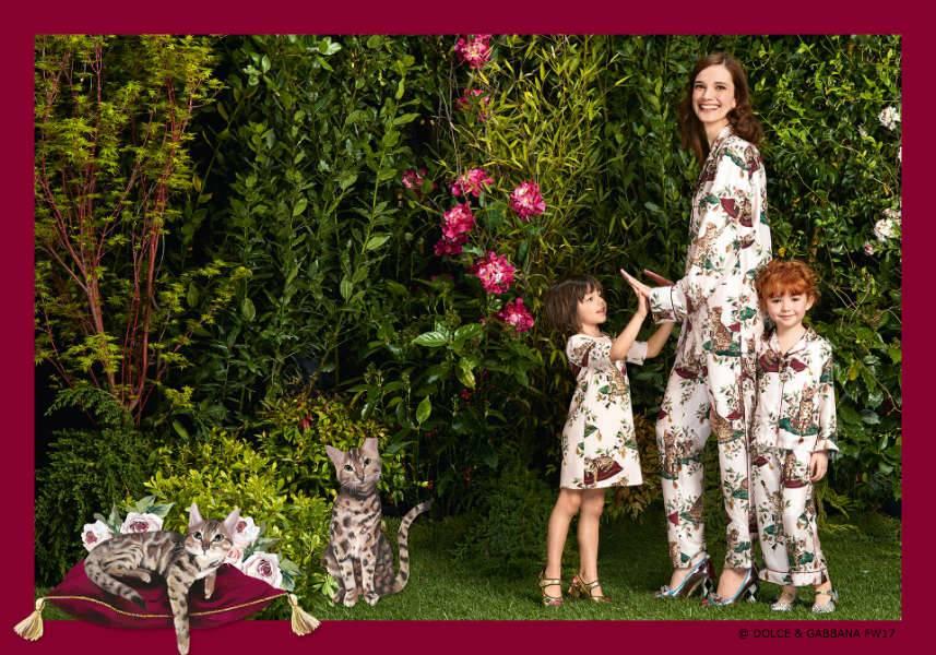 Dolce & Gabbana Girls Mini Me Zambia Cat Fall 2017
