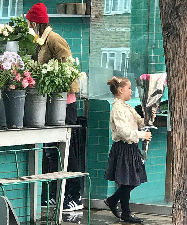 Harper Bechkam Wearing Carmel London Outfit Septmeber 17 2017