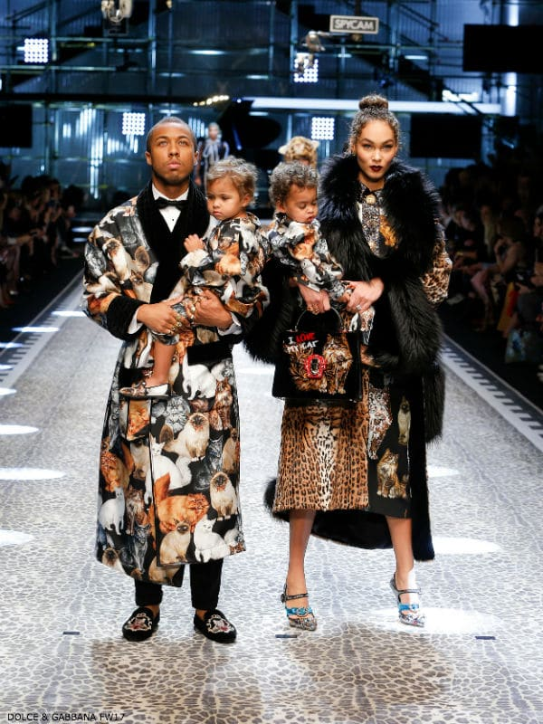 Jason and Amandal Harvey Dolce and Gabbana Fall Winter 2017-18 Fashion Show