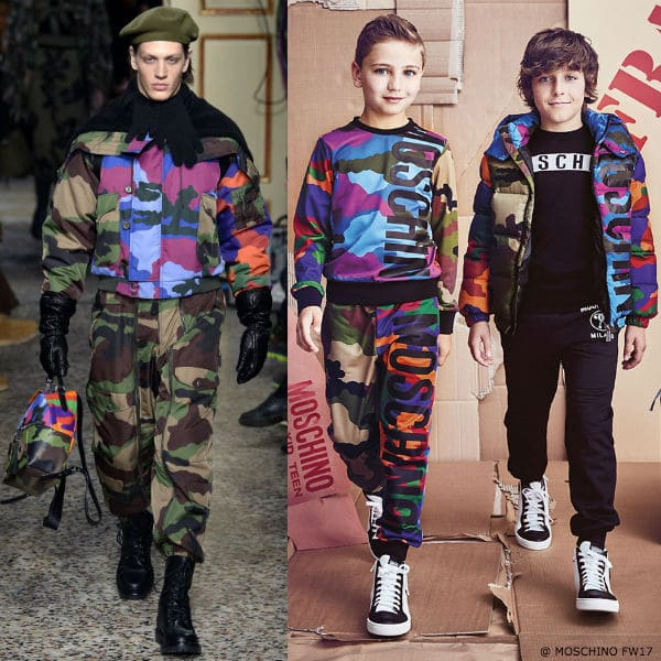 MOSCHINO KID-TEEN Boys Camouflage Outfit