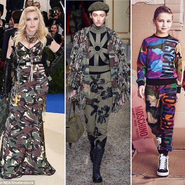 Madonna Camouflage Moschino Dress Met Gala 2017