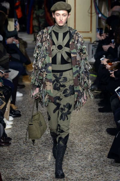 Moschino Fall 2017 camouflage Trend