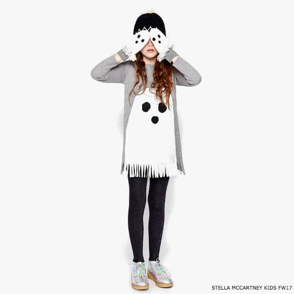 STELLA MCCARTNEY KIDS Girls Grey 'Ghosty' Dress & Mittens