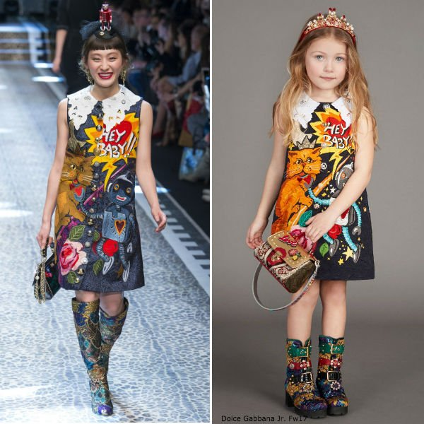Dolce Gabbana Junior Girls Mini Me Space Love Dress FW17