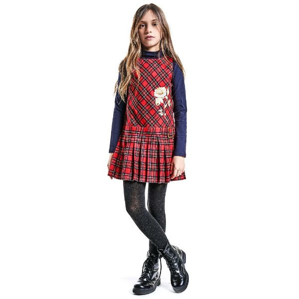 JOHN GALLIANO Girls Tartan Pinafore Dress
