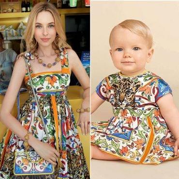 DOLCE & GABBANA Baby Girls Mini Me Mondello Majolica Theme Leopard Print Dress Spring Summer 2018 2
