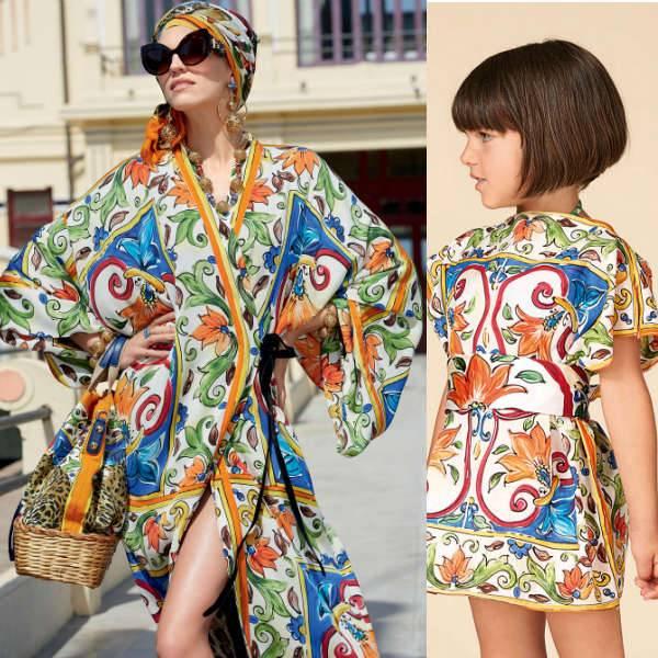 DOLCE & GABBANA Girls Mini Me Mondello Majolica Theme Dress Spring Summer 2018 2