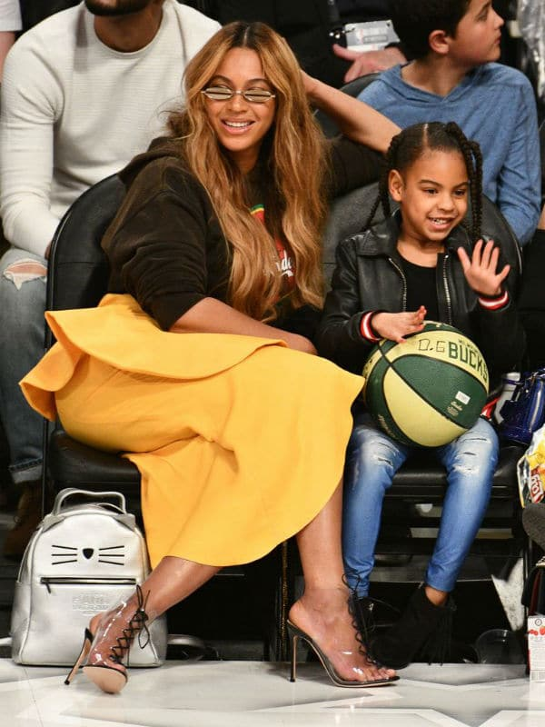 BLUE IVY Beoyonce NBA ALL STAR GAMES LA 2018