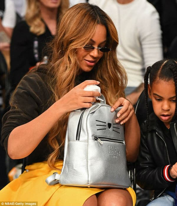 Beyonce & Blue Ivy with Karl Lagerfeld Kids Silver Bunny Backpack