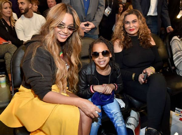 Beyonce Blue Ivy Tina Knowles NBA All Star Games 2018