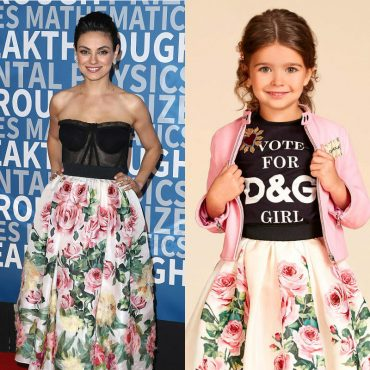 MILA KUNIS DOLCE GABBANA Mini Me LOVE CHRISTMAS ROSE LOOK