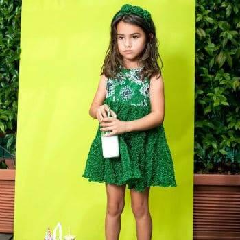 Missoni Girls Green Knit Dress for Spring Summer 2018