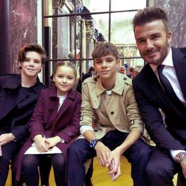 david beckham family photo NYFW 2018 Twitter