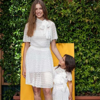 Missoni Girls Mini Me White Knit Lace Mommy and Me Dress