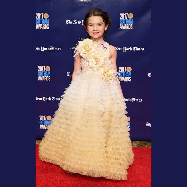 BROOKLYN PRINCE Junona Yellow Red Carpet Dress Gotham Independent Film Awards Nov 2017