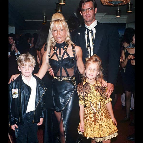 DESIGNER DONATELLA VERSACE WITH DAUGHER ALLEGRA & SON DANIEL 2014