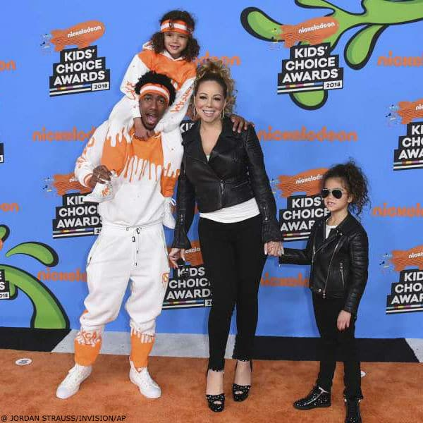 Nickelodeon Kids' Choice Awards 2018 Mariah Carey Nick Cannon Twins Morocco Monroe